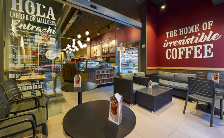 Retail fit out for coffee franchise