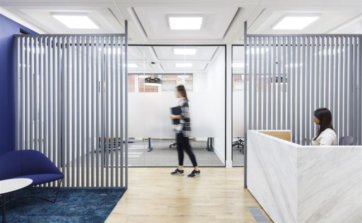 Sleek office fit-out for real-estate investment firm