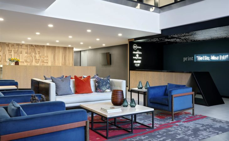 Vibrant workplace for business solutions client