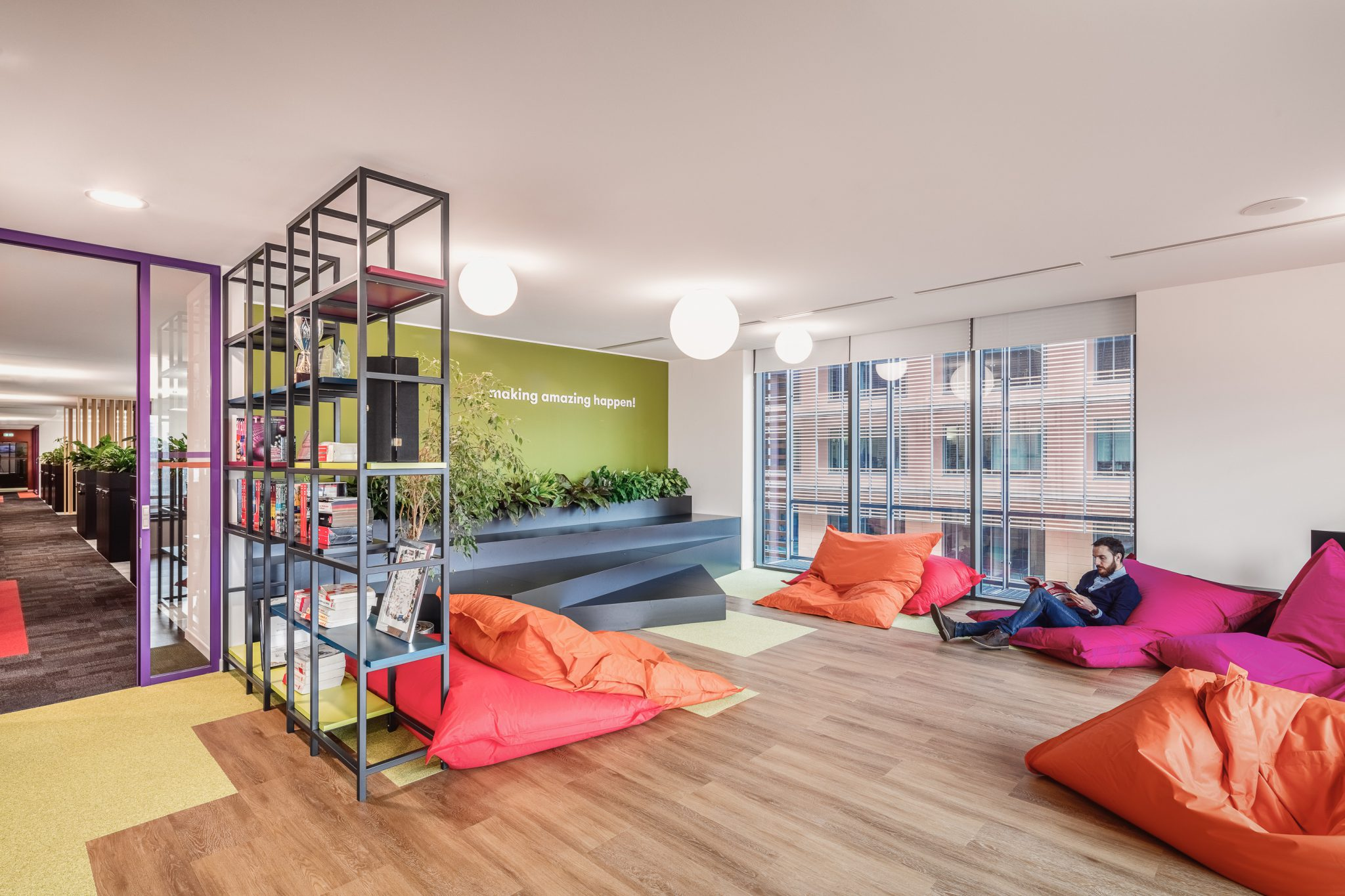 Relaxation space at the RS Components office in Milan, Italy