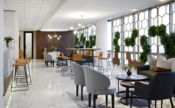 Hotel inspired client zone for top law firm