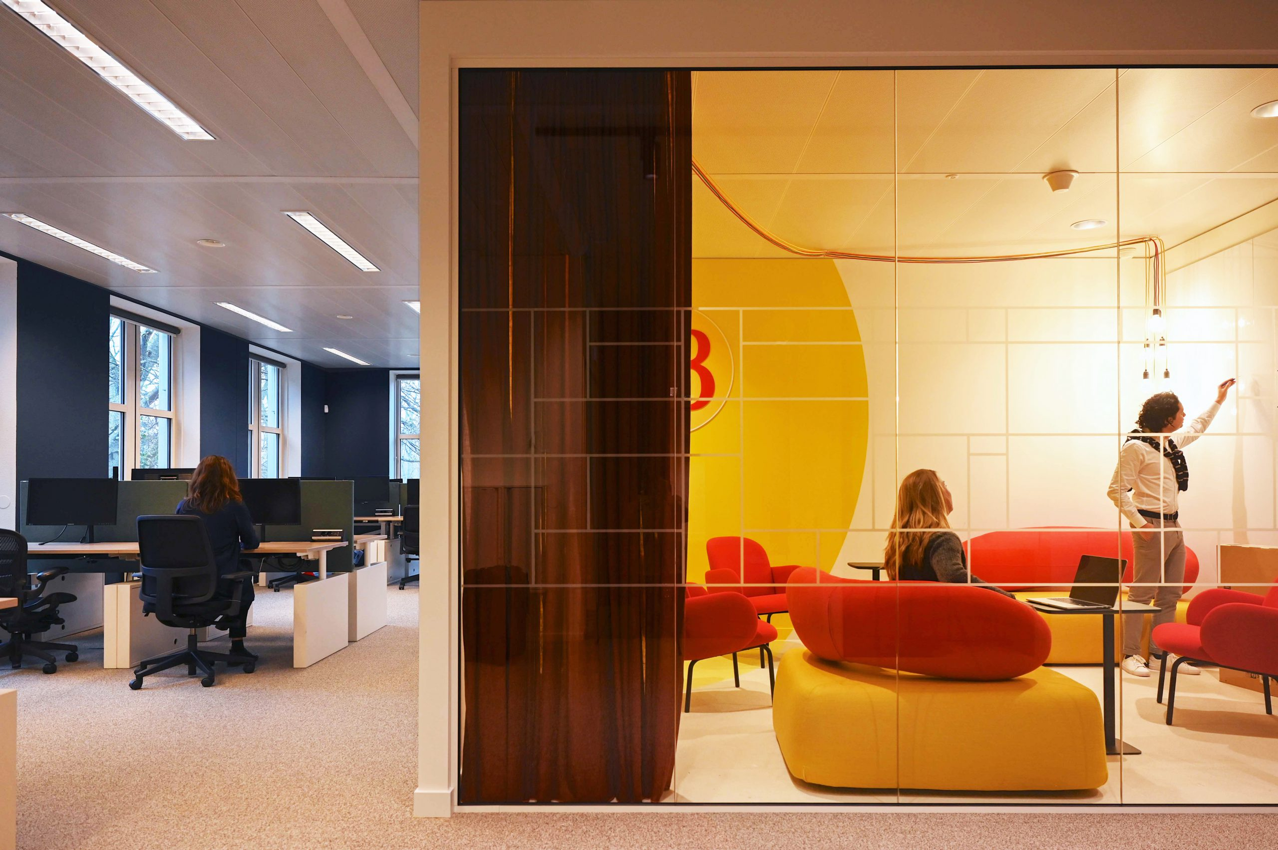 Informal meeting room at Diageo's offices in Amsterdam, The Netherlands