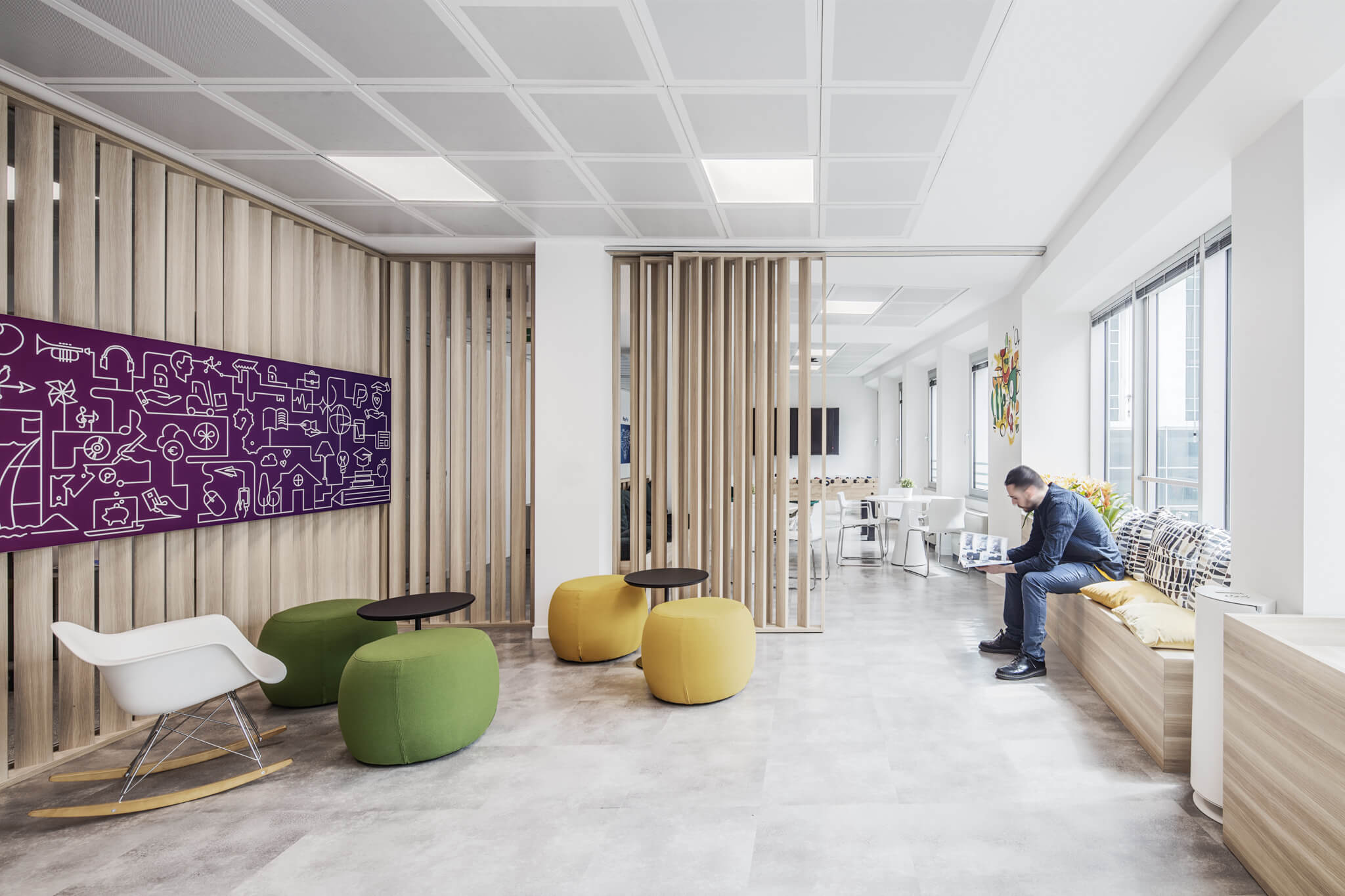 Tech-free zone at PayPal offices in Milan, Italy