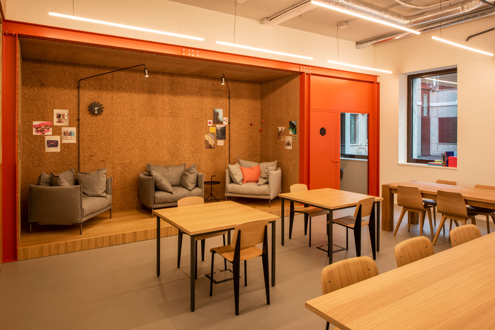 Informal area at Spaces in Milan, Italy