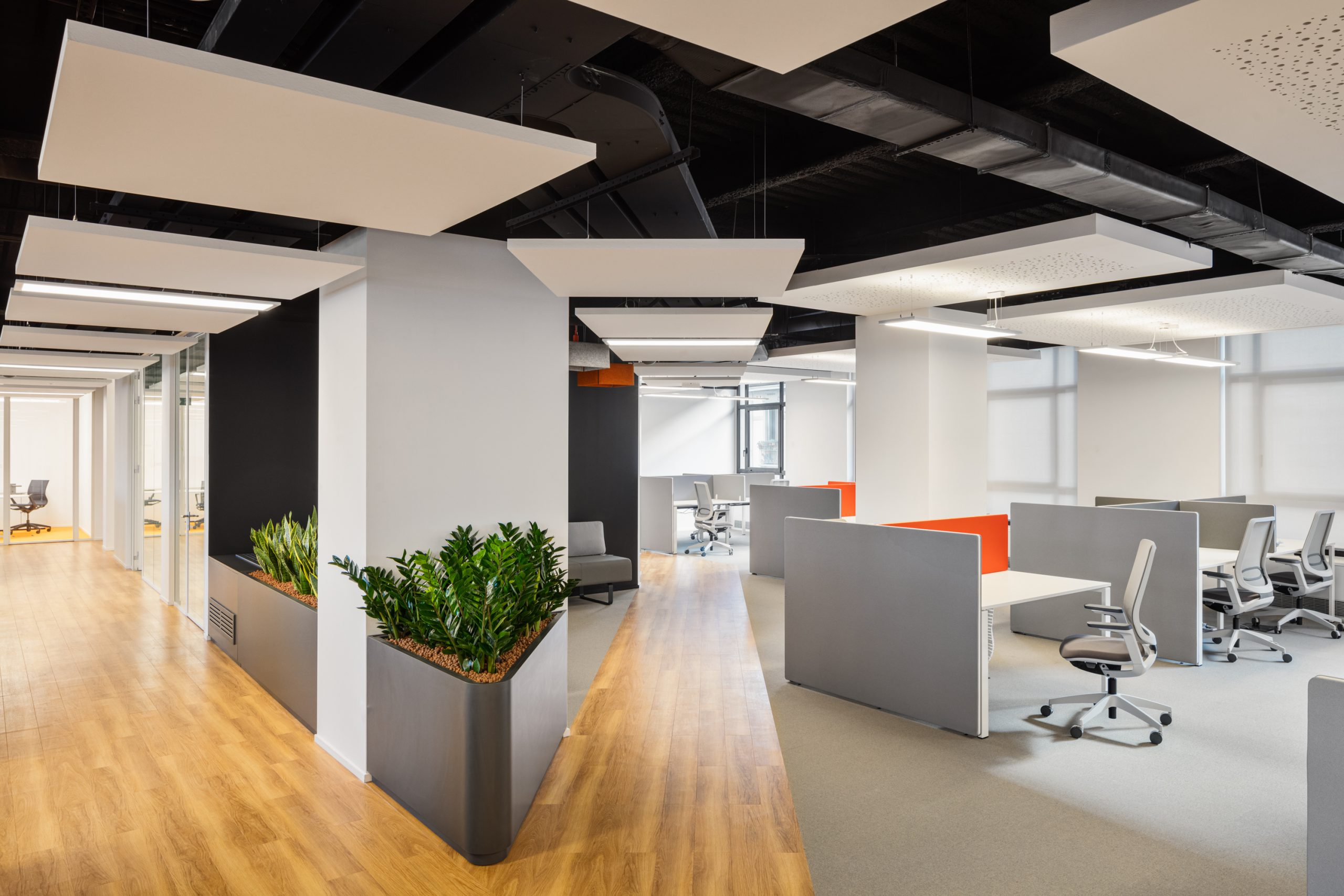 Paying attention to the acoustics of a space can make an environment more comfortable for those sensitive to noise, like the Facile.it offices we built in Milan, Italy.