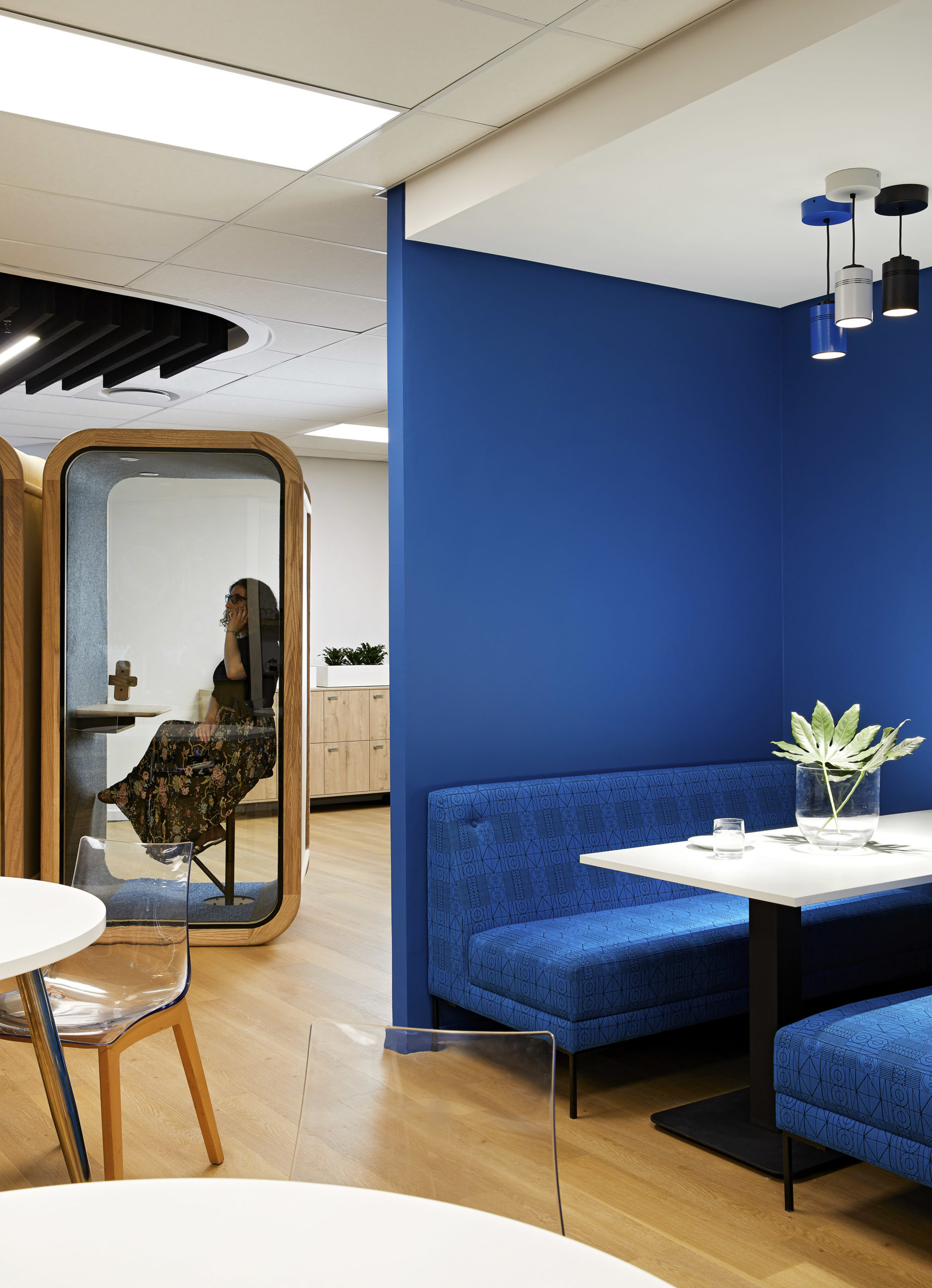 Private booths are a good option for people who need to escape the noise of the office, like this one at PepsiCo's office in Johannesburg, South Africa