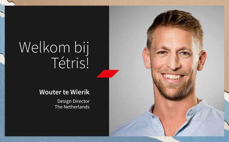 Wouter te Wierik is aangesteld als Design Director bij Tétris Nederland