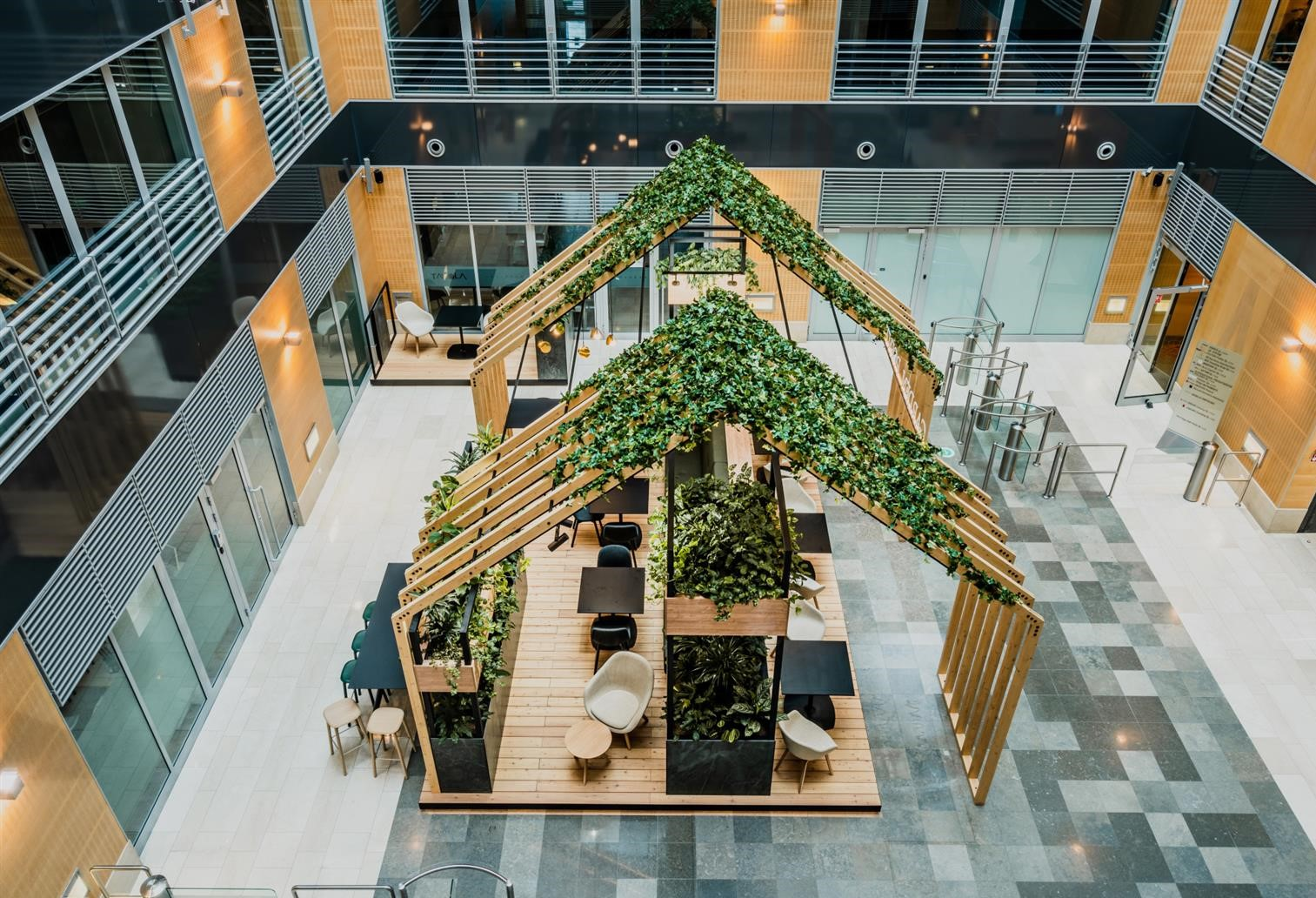 A welcoming oasis for Bluehouse Capital at Marynarska Point 2 in Warsaw, Poland